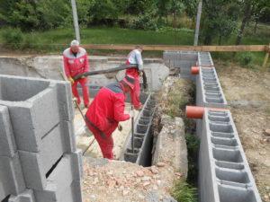 Betonování čerpadlem